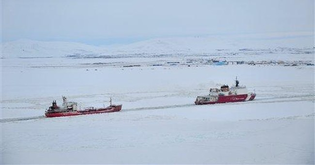 Tanker carrying fuel arrives at iced-in AK town