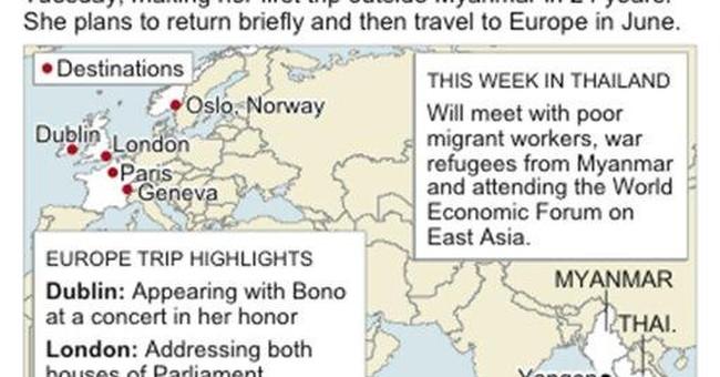 On Thailand trip, Suu Kyi visits Myanmar migrants