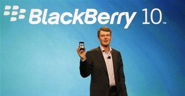 Battered BlackBerry maker weighs options