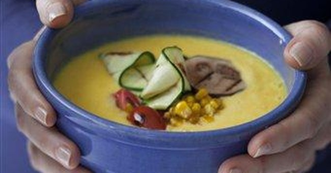 White House's corn soup with summer veggies