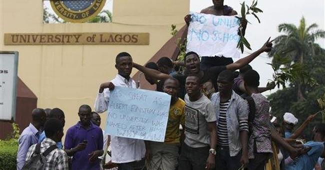 Nigerian students protest university name change