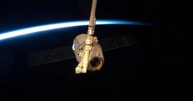 Dragon capsule ready for space station departure