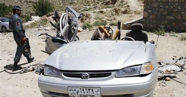 Suicide car bomber kills 5 police in Afghanistan