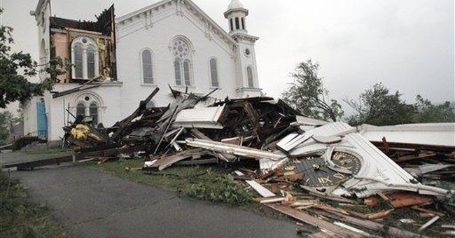 Year after tornado downs steeple, church rebounds