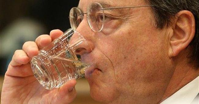 ECB holds rates, lets crisis squeeze politicians
