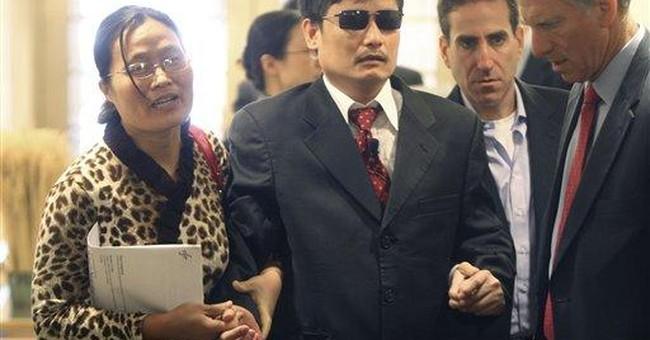 Chinese activist in US says China slowly improving