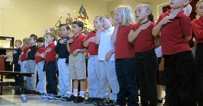 Public school in rural Idaho touts patriotic focus
