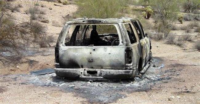 Five bodies found in burned SUV in Ariz. desert