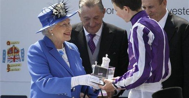 Queen spends day at races as jubilee events begin