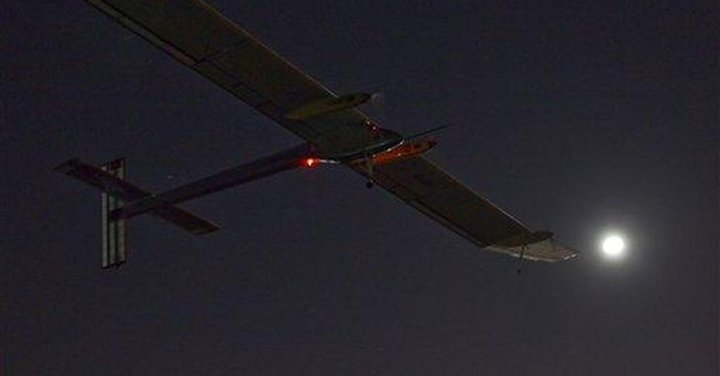 Morocco promotes solar energy with plane landing
