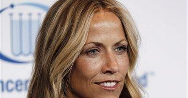Sheryl Crow  has a benign brain tumor