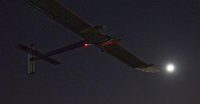 Solar-powered plane leaves Spain for Morocco