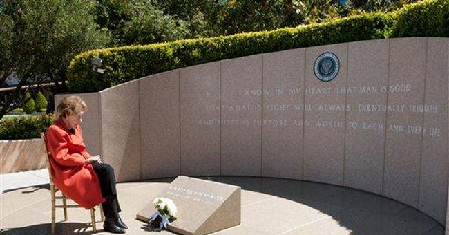 Reagan commemorates husband's death 8 years ago