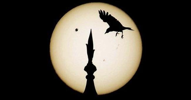 AP Photos: Looking up, Earth watches Venus