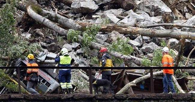 Swiss rail link to Italy disrupted after rockslide