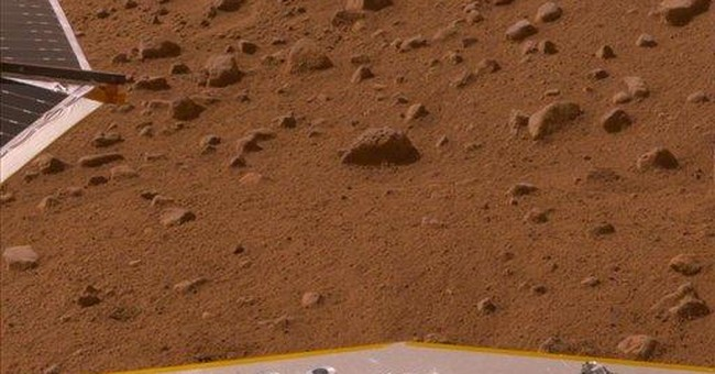 """Digital copy of """"The Martian Chronicles"""" on Mars"""