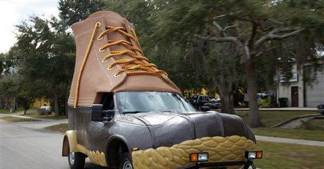 LL Bean celebrates 100th with a boot on wheels
