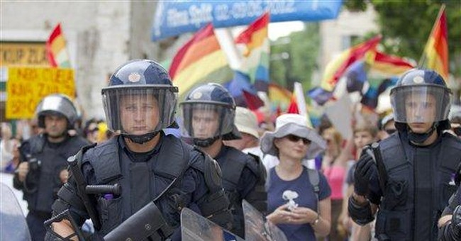 Croatian gay pride event passes without incident