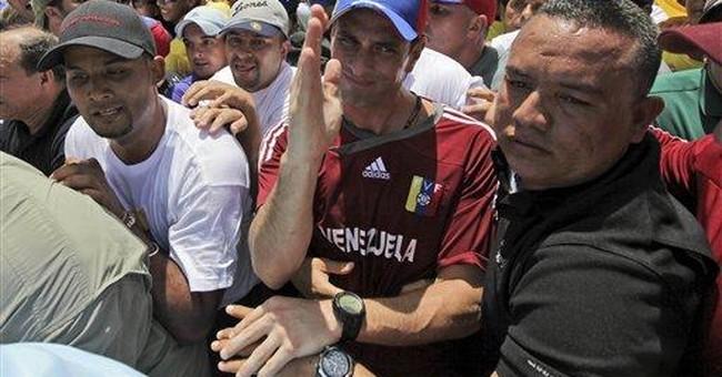 Chavez foe leads massive march in Venezuela