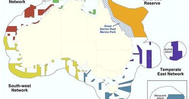 Australia creates largest area of marine reserves