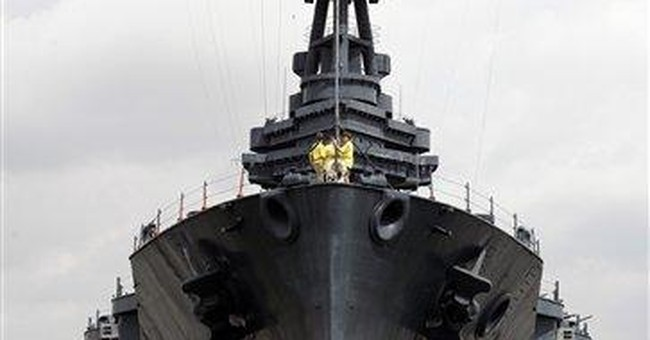100-year-old Battleship Texas springs massive leak