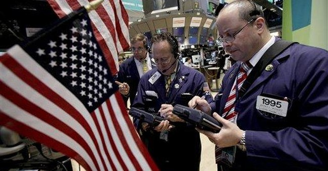 US stocks end lower as Europe teeters; Dow off 77