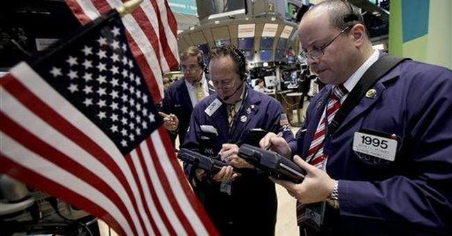 US stocks end lower as Europe teeters; Dow off 77