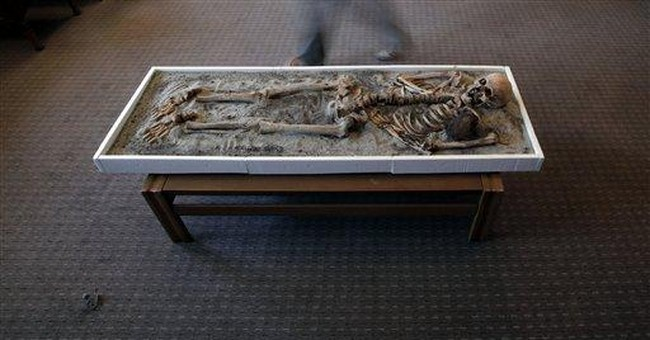 Bulgaria: `Vampire' skeleton going on display