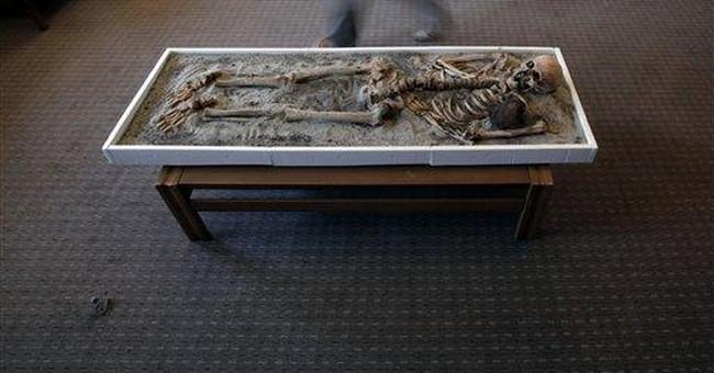 Bulgaria: `Vampire' skeleton going on display