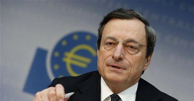 Draghi: up to politicians to fight eurozone crisis