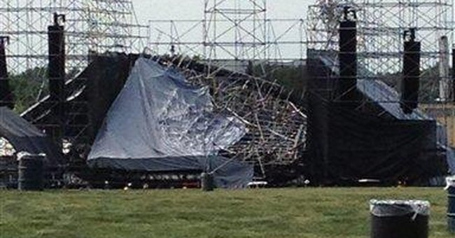 Stage collapses before Radiohead concert; 1 dead