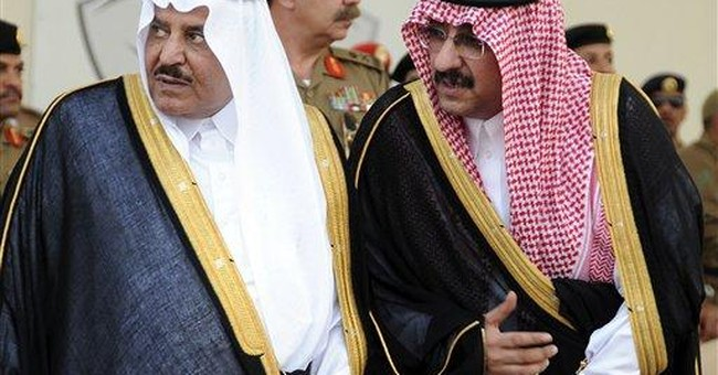 Saudi king in Mecca for crown prince's burial