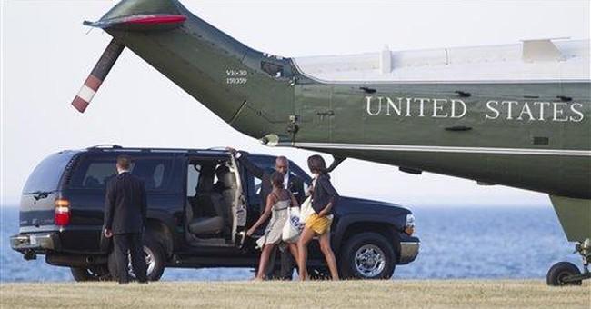 Obama family makes rare trip home to Chicago
