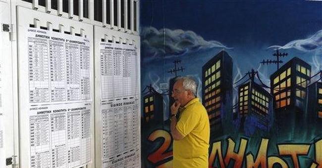 Greek conservatives win, head into coalition talks