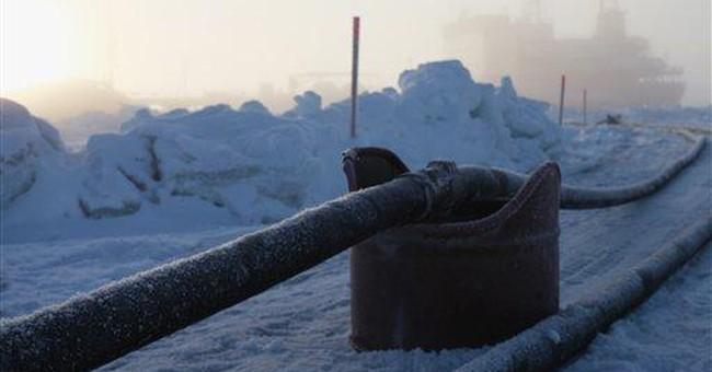 Fuel transfer runs smoothly in iced-in Alaska city