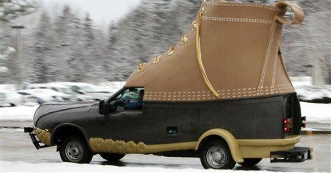 LL Bean's Bootmobile goes on a road trip
