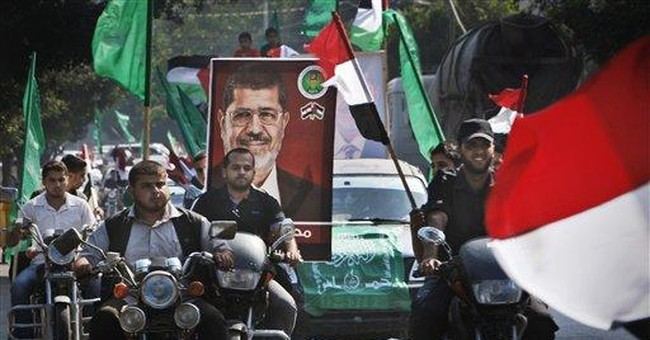 Gazans welcome claim of Islamist victory in Egypt