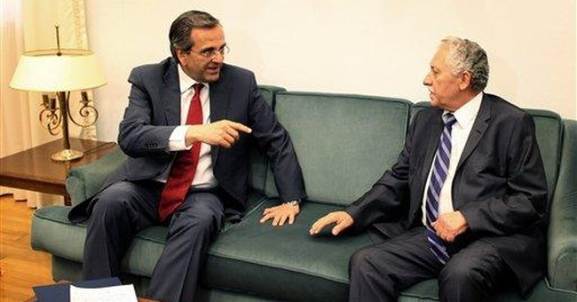 Greece enters 2nd day of power-sharing talks