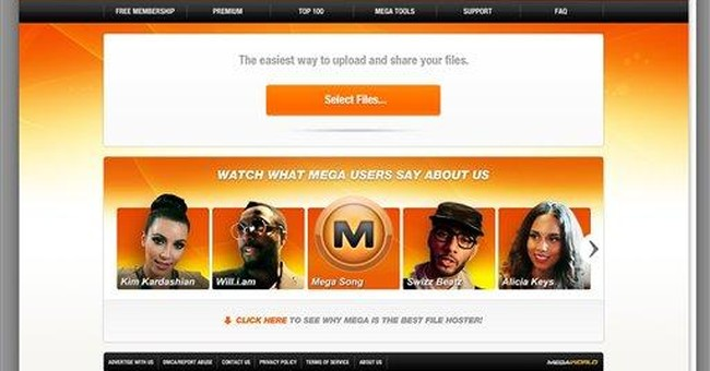 Popular file-sharing website Megaupload shut down