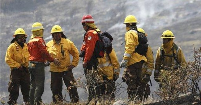 Chile battles 3 huge forest fires; 1 killed