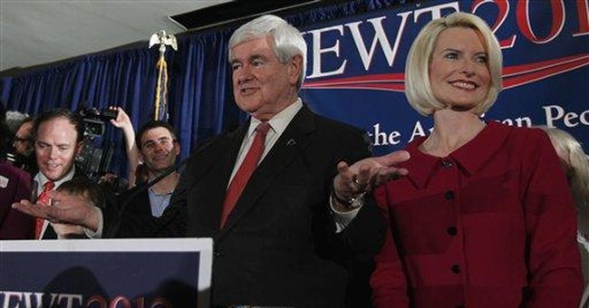 Gingrich says primary win a blow to elites