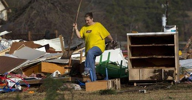 Alabama hit again by tornadoes; 2 dead, 100 hurt
