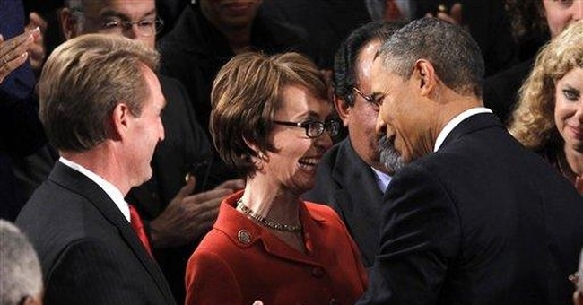 Obama pays tribute to Giffords