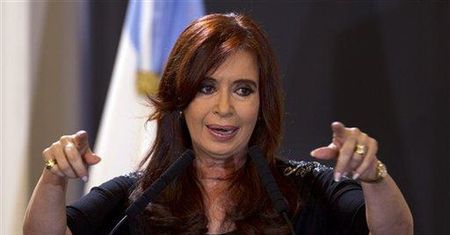 Argentine leader shows off scar after cancer scare