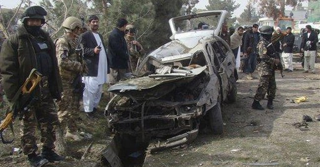 Car bomb targeting NATO aid team kills 4 Afghans