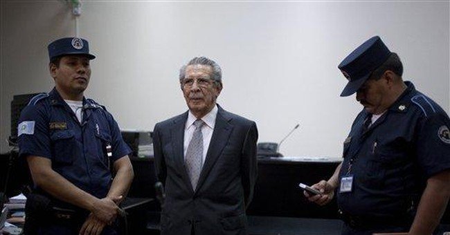 Ex-dictator appears in court, doesn't testify