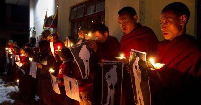 Exile leader says killing of Tibetans unacceptable