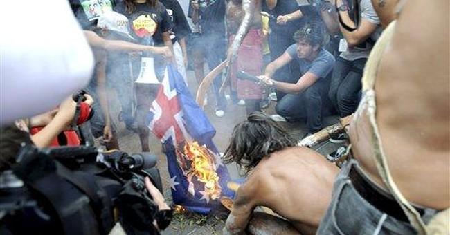Australian gov't, activists trade blame for clash