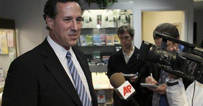 Tired and trailing, Santorum goes home to do taxes