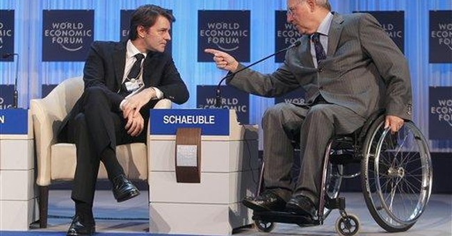 European leaders stress the positive at Davos
